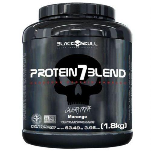 Protein 7 Blend - 1800g Morango - Black Skull no Atacado