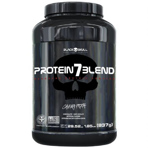 Protein 7 Blend - 837g Chocolate - Black Skull no Atacado