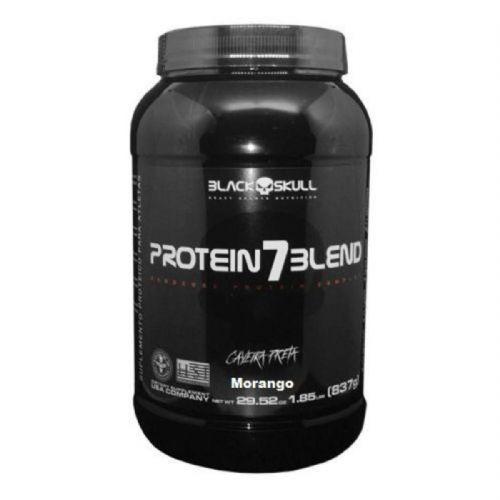 Protein 7 Blend - 837g Morango - Black Skull no Atacado