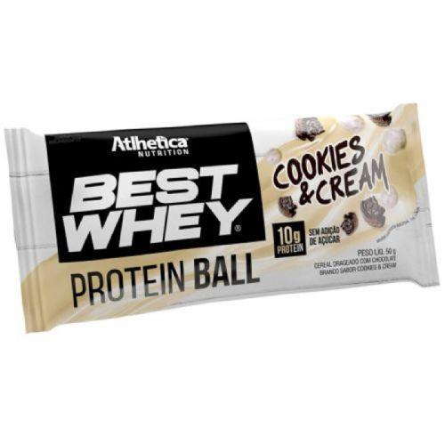 Protein Ball Best Whey - 1 Unidade Cookies&Cream - Atlhetica no Atacado