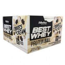 Protein Ball Best Whey - 12 Unidades Cookies&Cream - Atlhetica Nutrition