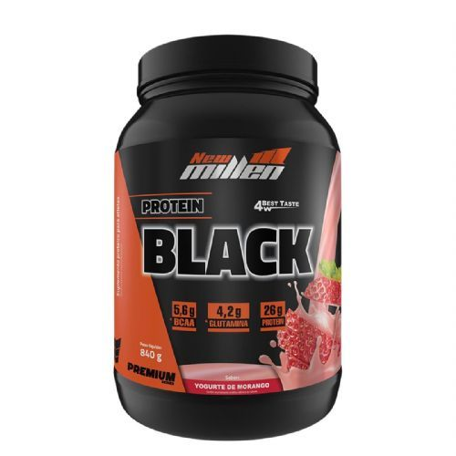 Protein Black - 840g Morango - New Millen no Atacado