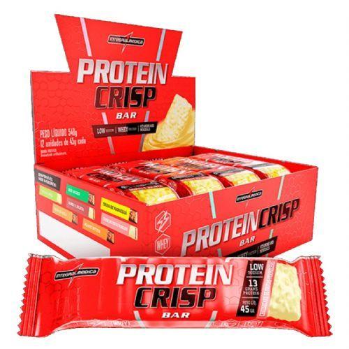 Protein Crisp Bar - 12 Unidades 45g Cheesecake Frutas Vermelhas - IntegralMédica no Atacado