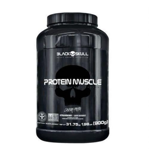 Protein Muscle - 900g Morango - Black Skull no Atacado