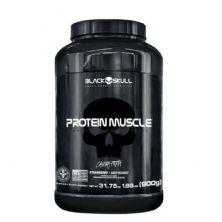 Protein Muscle - 900g Morango - Black Skull