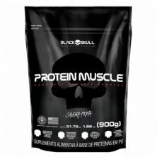 Protein Muscle Refil - 900g Morango - Black Skull