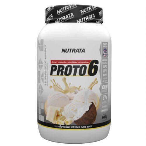 Proto 6 - 900g Chocolate Branco com Coco - Nutrata no Atacado