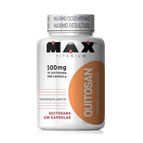 Quitosan - 120 Cápsulas - Max Titanium