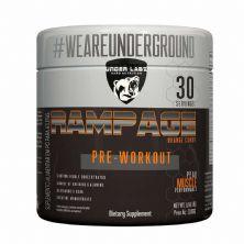 Rampage Pre - Workout - 300g Orange Candy - Under Labz
