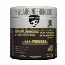 Rampage Pre - Workout - 300g Peach Mango - Under Labz