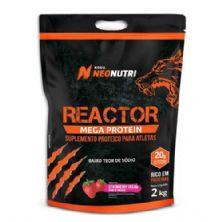 Reactor Mega Protein - 2000g Creme de Morango - NeoNutri