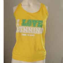 Regata Feminina I LOVE RUNNING - Amarela Tamanho G