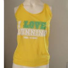 Regata Feminina I LOVE RUNNING - Amarela Tamanho M