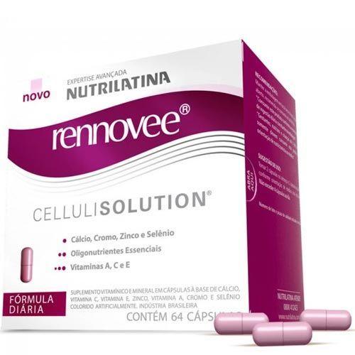 Rennovee CelluliSolution - 64 Cápsulas - Nutrilatina Rennovee