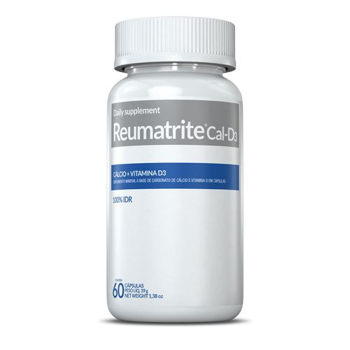 Reumatrite Cal-D3 - Cálcio + Vitamina D3 - 60 Cápsulas - Inove Nutrition*** Data Venc. 07/10/2019