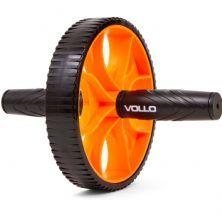 Roda de Exercício Simples - Laranja e Preto - Vollo Sports