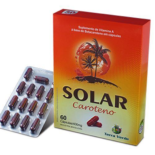 Solar Caroteno - 60 Cápsulas - Terra Verde no Atacado