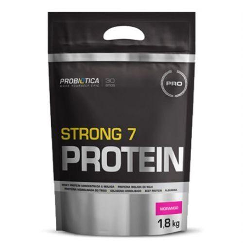 Strong 7 Protein - 1800g Morango - Probiótica no Atacado