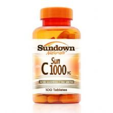 Sun C 1000mg Ácido Ascórbico - 100 Tabletes - Sundown*** Data Venc. 31/10/2018