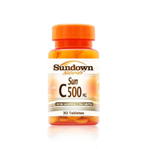 Sun C-500 Mg Acido Ascorbico - 30 Tabletes - Sundown