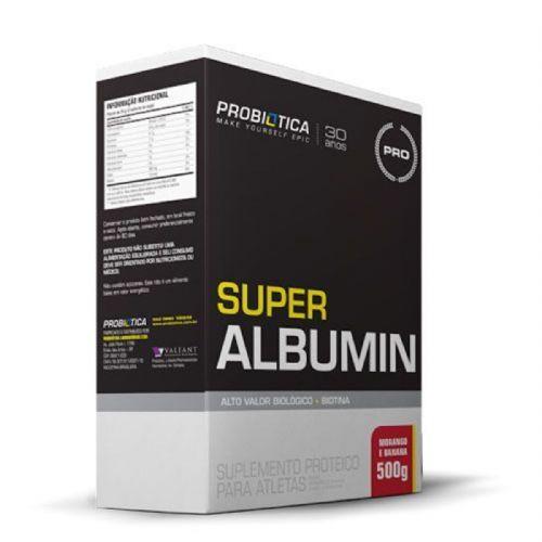 Super Albumin - 500g Morango c/ Banana - Probiótica no Atacado