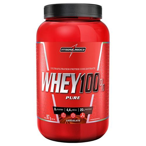 Whey 100% Pure - 907g Chocolate - IntegralMédica*** Data Venc. 31/10/2019