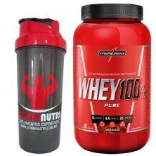 Super Whey 100% Pure - Baunilha 907g + Coqueteleira - Integralmédica