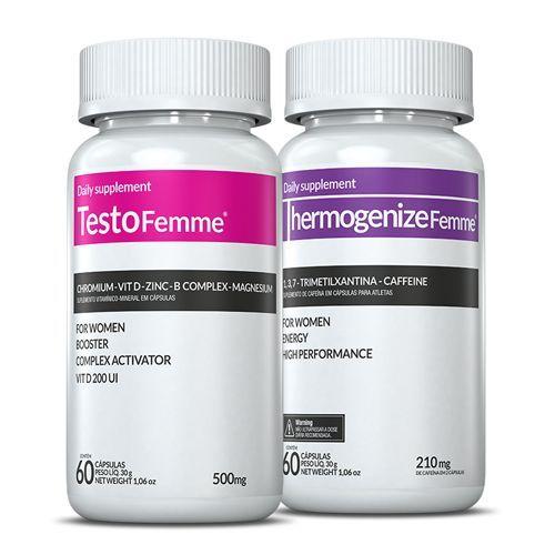 TestoFemme 60 Capsulas + Thermogenize Femme 60 Capsulas - Inove Nutrition no Atacado