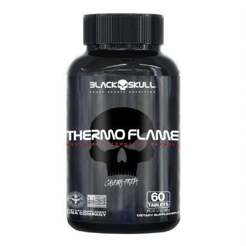 Thermo Flame Termogênico - 60 Tablets - Black skull no Atacado
