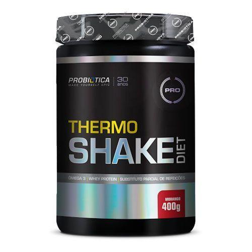 Thermo Shake Diet 400g Morango Probiótica