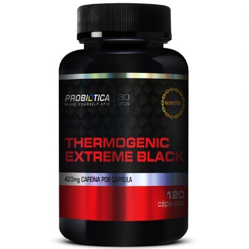 Thermogenic Extreme Black - 120 Cápsulas - Probiótica no Atacado
