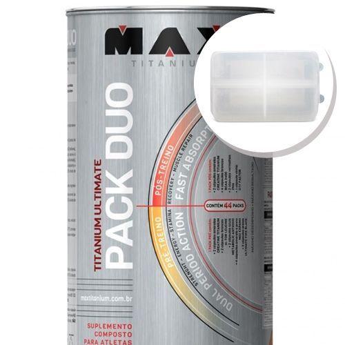 Titanium Ultimate Pack Duo - 44 Packs + Porta Cápsulas transparente - Max Titanium