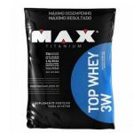 Top Whey 3W 1800g Chocolate + Coqueteleira 600ml Preta - Max Titanium
