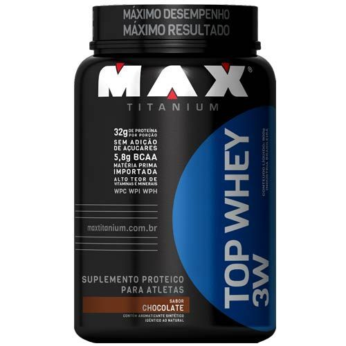 Top Whey 3W - 900g Chocolate - Max Titanium