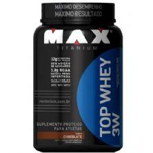 Top Whey 3W - 900g Chocolate - Max Titanium