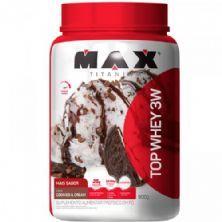 Top Whey 3W Mais Sabor - 900g Cookies & Cream - Max Titanium