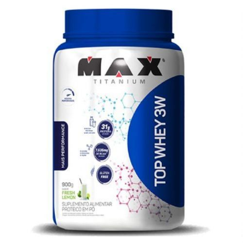 Top Whey 3W Mais Performance - 900g Fresh Lemon - Max Titanium no Atacado