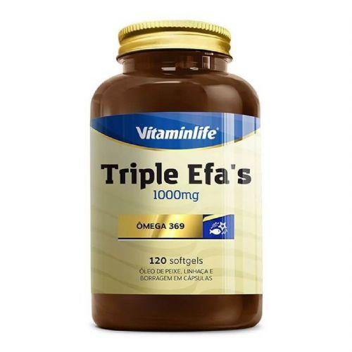 Triple EFAS Omega 3 6 9 - 1000mg 120 softgels - Vitaminlife no Atacado