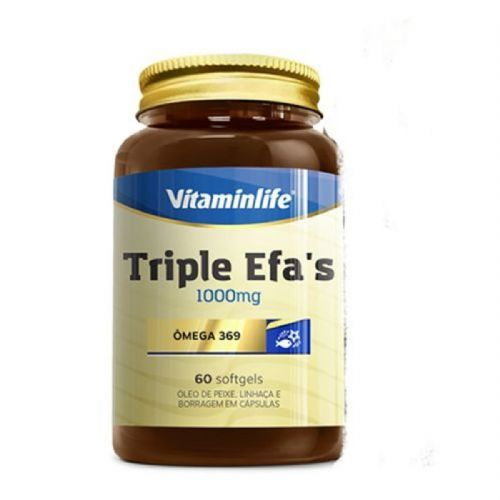 Triple EFAS Omega 3 6 9 - 1000mg 60 softgels - Vitaminlife no Atacado