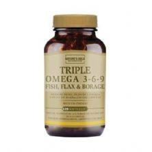 Triple Omega 3-6-9 - 120 Softgels - Natures Gold
