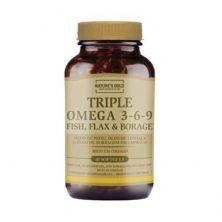 Triple Omega 3-6-9 - 60 Softgels - Natures Gold