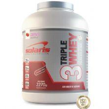 Triple Whey - Morango 2270g - Solaris Nutrition