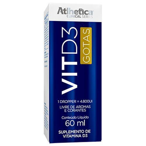 Vit D3 Gotas - 60ml - Atlhetica