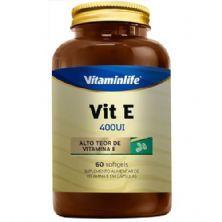 Vit E 400UI - 60 Softgels - Vitaminlife