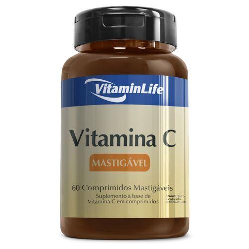 Vitamina C em Comprimidos Mastigáveis - 60 comprimidos - VitaminLife