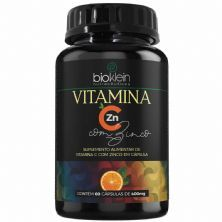 Vitamina C + Zinco - 60 Cápsulas - Bioklein