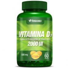 Vitamina D3 2000UI - 60 Cápsulas - Herbamed
