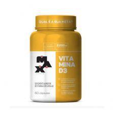 Vitamina D3 2000UI- 60 Cápsulas - Max Titanium
