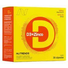 Vitamina D3 2000UI + Zinco - 30 Cáspulas - Nutrends