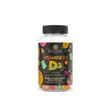 Vitamini D3 Gummy - 60 Gomas Morango, Maçã Verde e Manga - Essential Nutrition